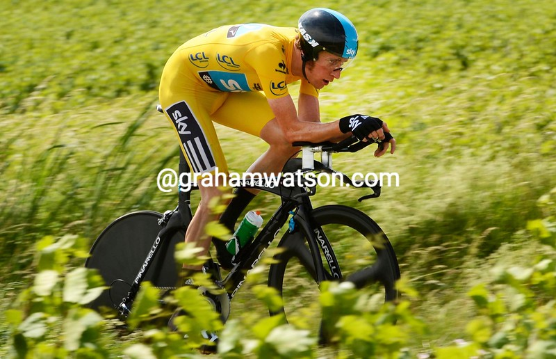 Bradley Wiggins on stage four of the 2012 Dauphine-Libere
