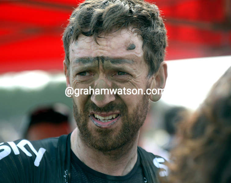 Bradley Wiggins after the 2014 Paris-Roubaix
