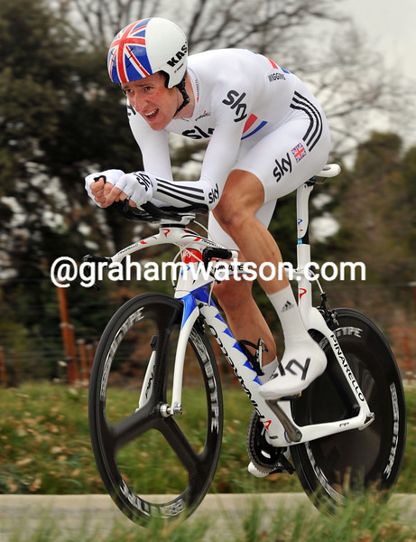 BRADLEY WIGGINS ON STAGE SIX OF THE 2011 PARIS-NICE