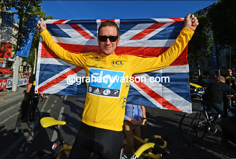 Bradley Wiggins on stage twenty of the 2012 Tour de France