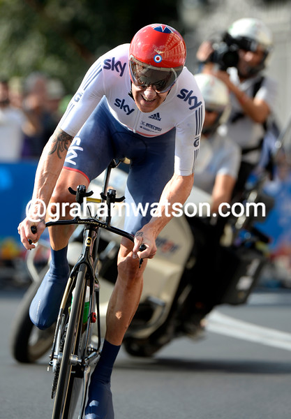 Bradley Wiggins in the mens TT World Championship 2013