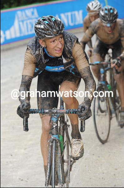BRADLEY WIGGINS ON STAGE SEVEN OF THE 2010 GIRO D'ITALIA