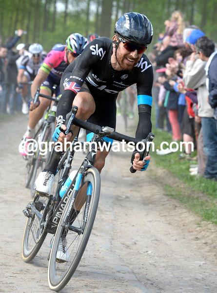 Bradley Wiggins in the 2014 Paris-Roubaix