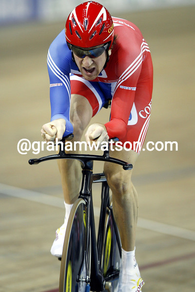BRADLEY WIGGINS IN THE PURSUIT FINAL OF THE 2007 WORLD TRACK CHAMPIONSHIPS