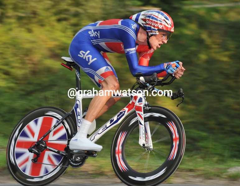 BRADLEY WIGGINS IN THE 2009 WORLD TIME TRIAL CHAMPIONSHIPS