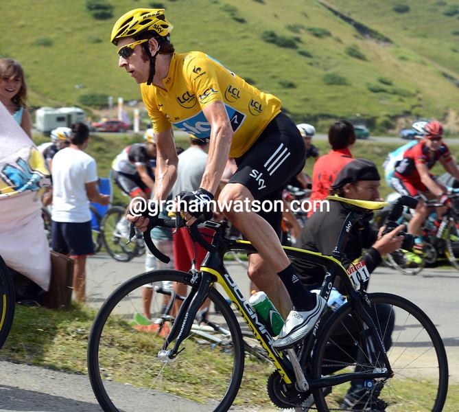Bradley Wiggins on stage seventeen of the 2012 Tour de France