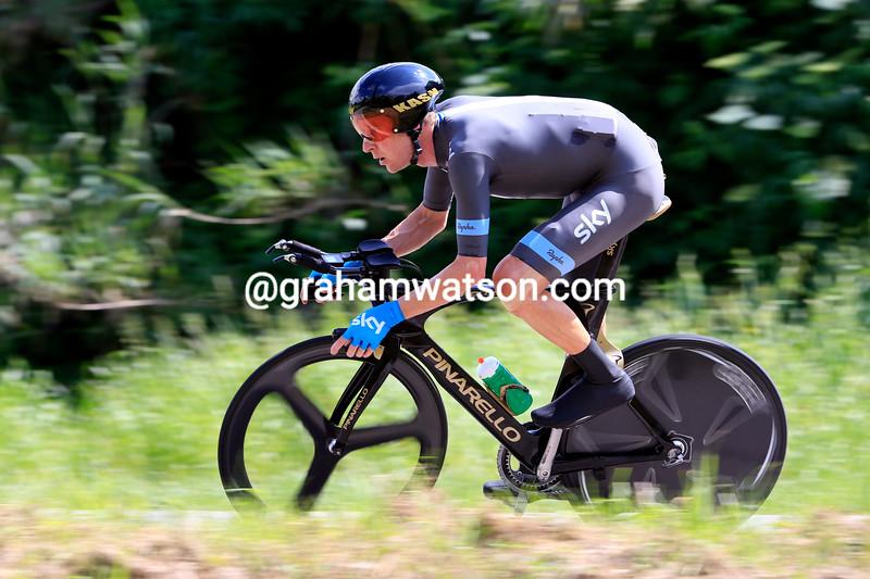 Bradley Wiggins on stage eight at the 2013 Giro d'Italia