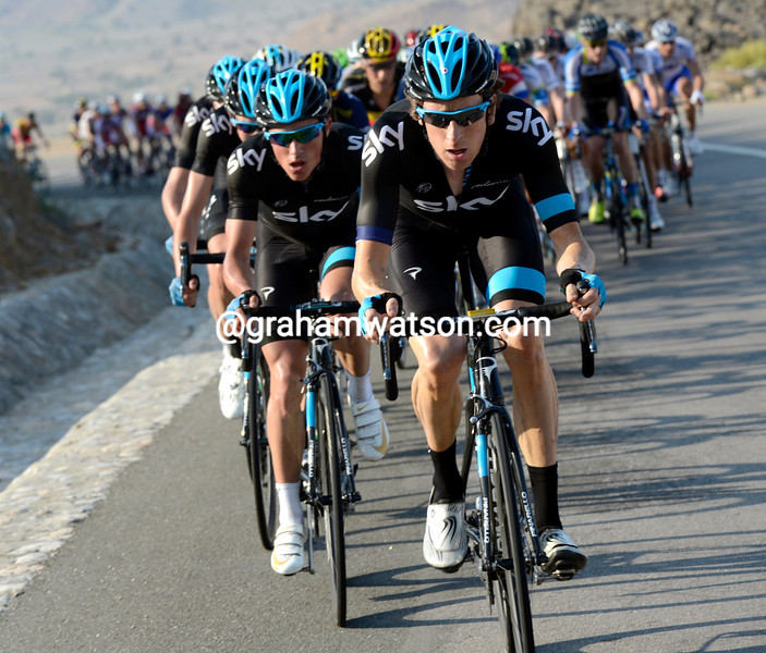 Bradley Wiggins on stage 3 of the 2013 Tour of Oman