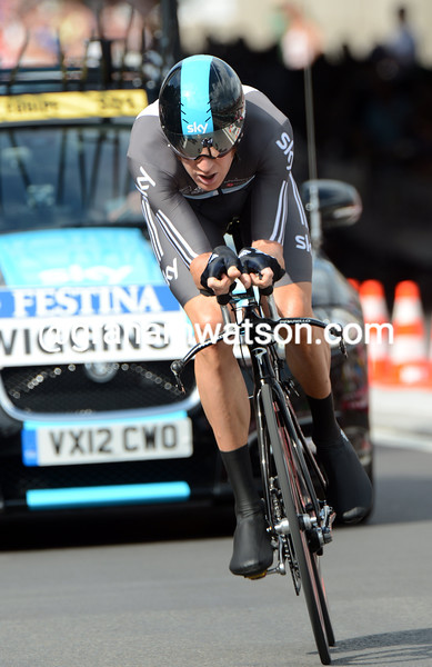 Bradley Wiggins in the prologue of the 2012 Tour de France