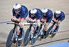 Bradley Wiggins leads Great Britain to the Gold Medal in the Team Pursuit