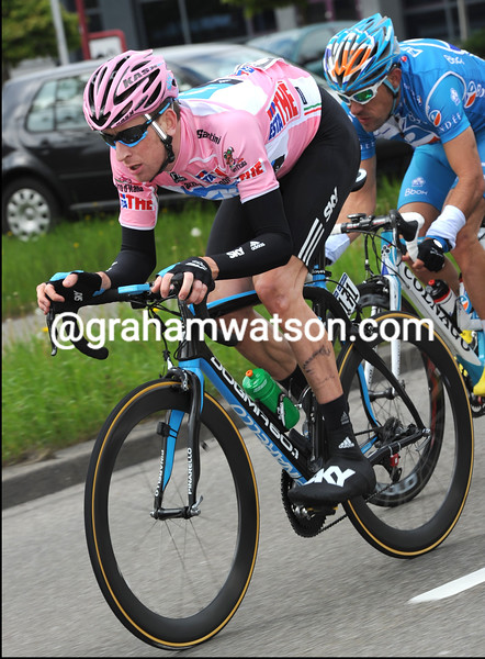 BRADLEY WIGGINS ON STAGE TWO OF THE 2010 GIRO D'ITALIA