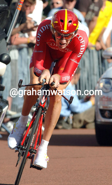 BRADLEY WIGGINS IN THE 2007 TOUR DE FRANCE PROLOGUE