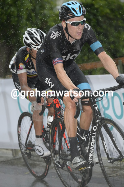 Bradley Wiggins in the 2013 Giro d'Italia