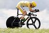 Bradley Wiggins wins stage nineteen of the 2012 Tour de France