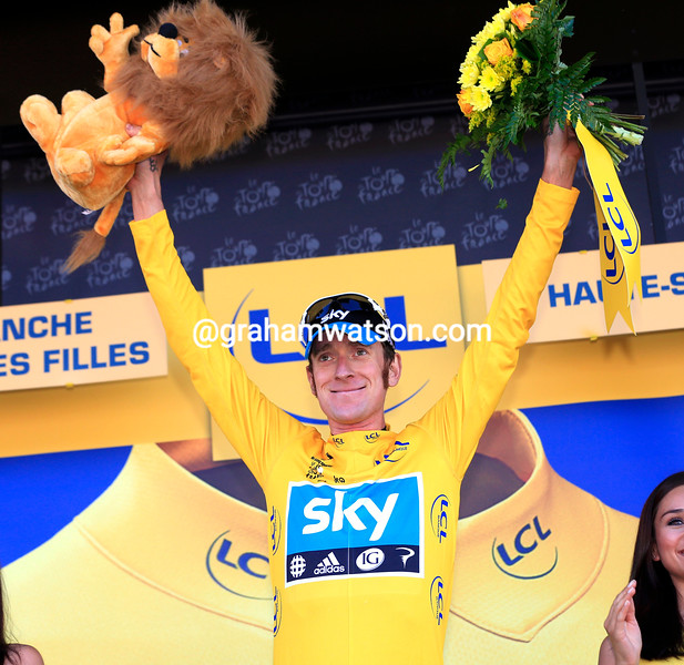 Bradley Wiggins on stage seven of the 2012 Tour de France