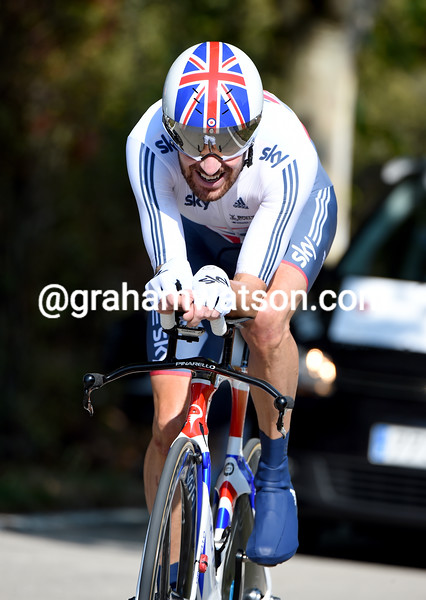Bradley Wiggins in the Elite Mens TT at the 2014 World Road Championships