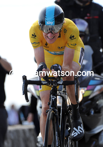 Bradley Wiggins on stage eight of the 2012 Paris-Nice