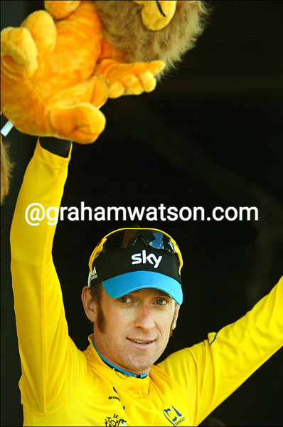 Bradley Wiggins on stage eight of the 2012 Tour de France