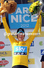 Bradley Wiggins on the podium after stage eight of the 2012 Paris-Nice