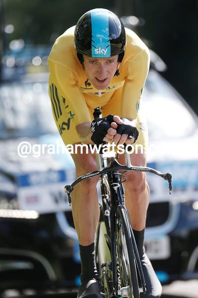 Bradley Wiggins on stage nine of the 2012 Tour de France