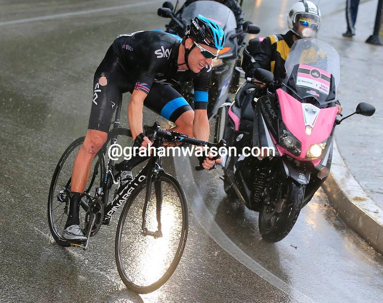 Bradley Wiggins on stage seven at the 2013 Giro d'Italia