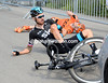 Bradley Wiggins crashes on stage four of the 2014 Tour de Suisse