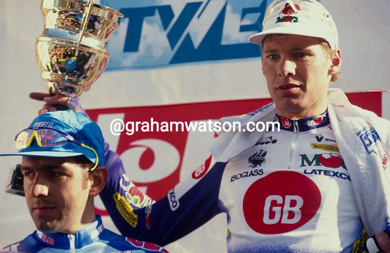 Wilfried Peeters wins the 1994 Ghent-Wevelgem