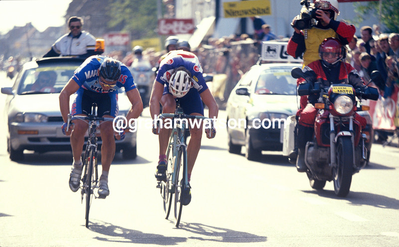 Wilfired Peeters wins the 1994 Ghent-Wevelgem