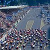 The 1990 World Championships peloton in Utsunomiya, Japan