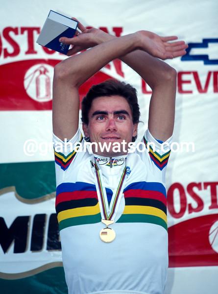 Silvio Martinello at the World Championships in Bogota, Colombia