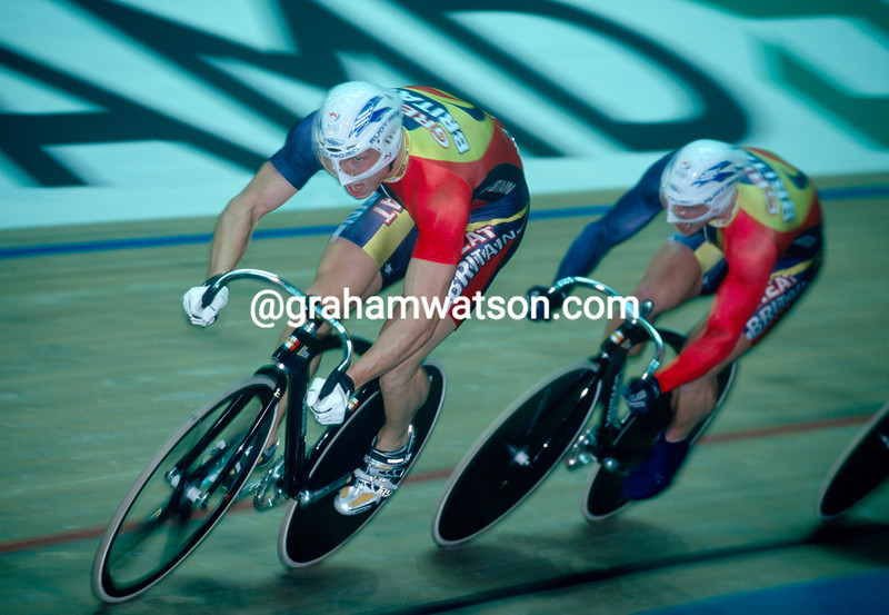 Chris Hoy at 2000 World Championships in Manchester, UK