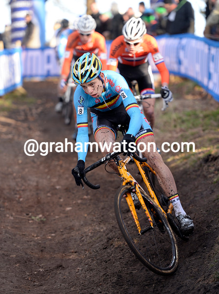 Wout Van Aert in the U-23 Mens world championships in 2014