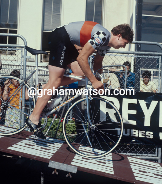 Sean Yates in the 1981 G. P. des Nations