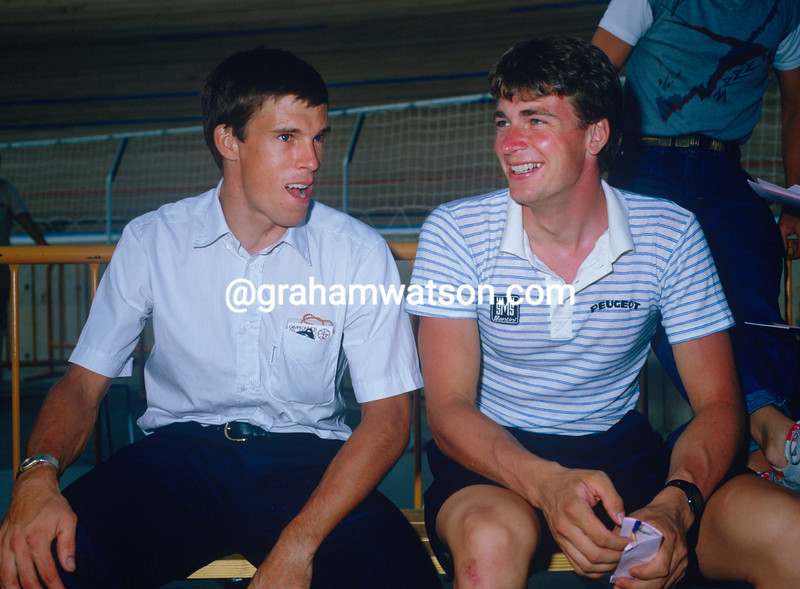 Sean Yates and Phil Anderson in 1984