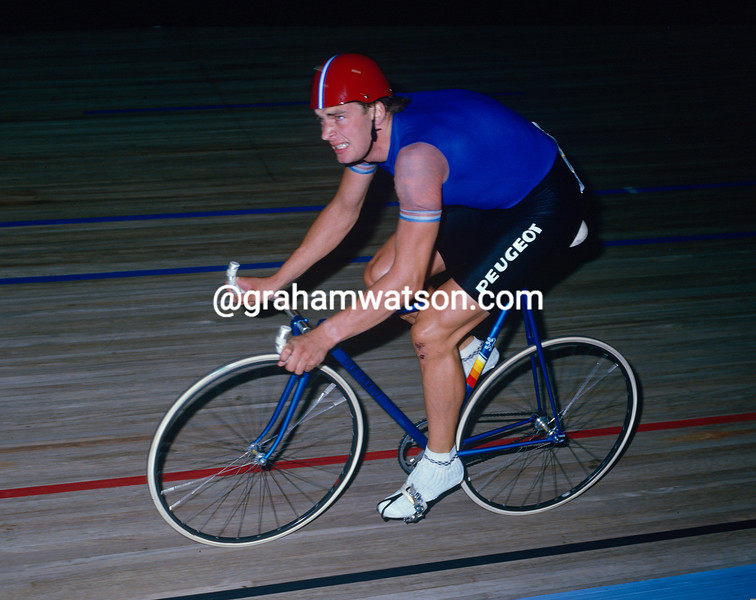 Sean Yates in the 1984 World Championship