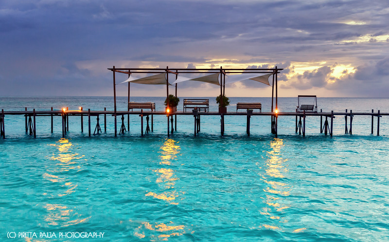 The luxury views on the Lankayan Island Dive Resort in Malaysian Borneo