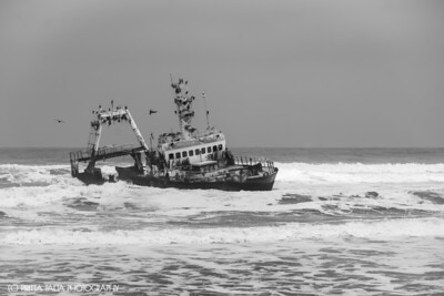 Shipwreck in Skeleton Coast