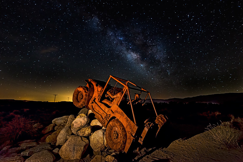 Willy's Jeep and Milky Way
