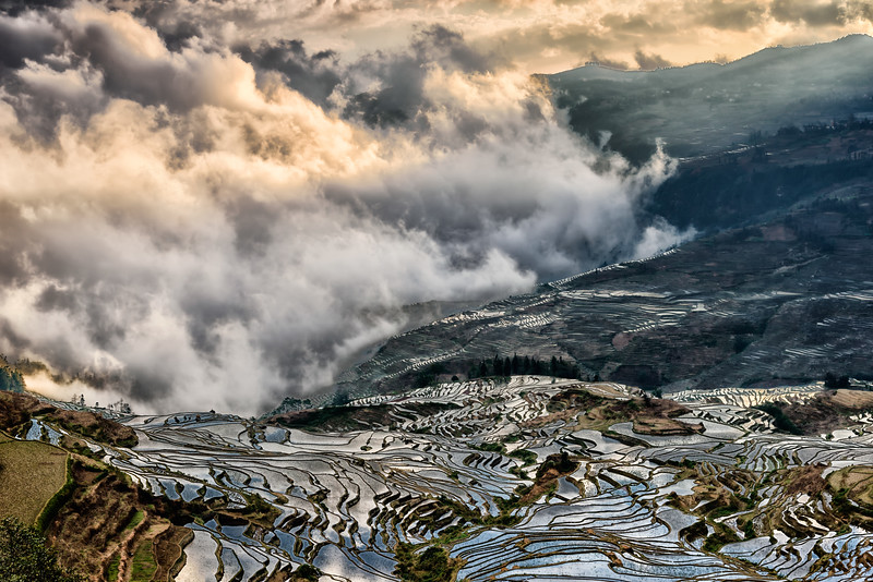 Yunyang Rice Terraces, Yunan Province, China