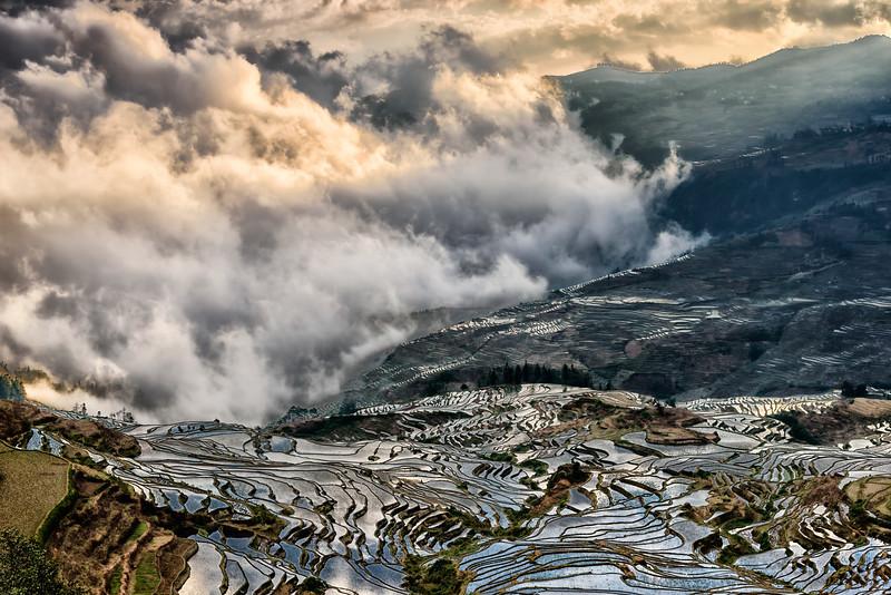 Yunyang Rice Terraces, Yunan Province, China