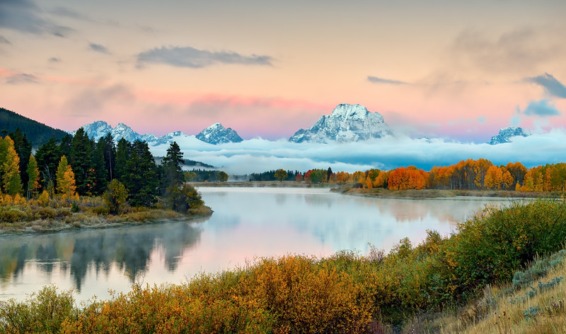 Fall Color at Teton's Oxbow Bend #1