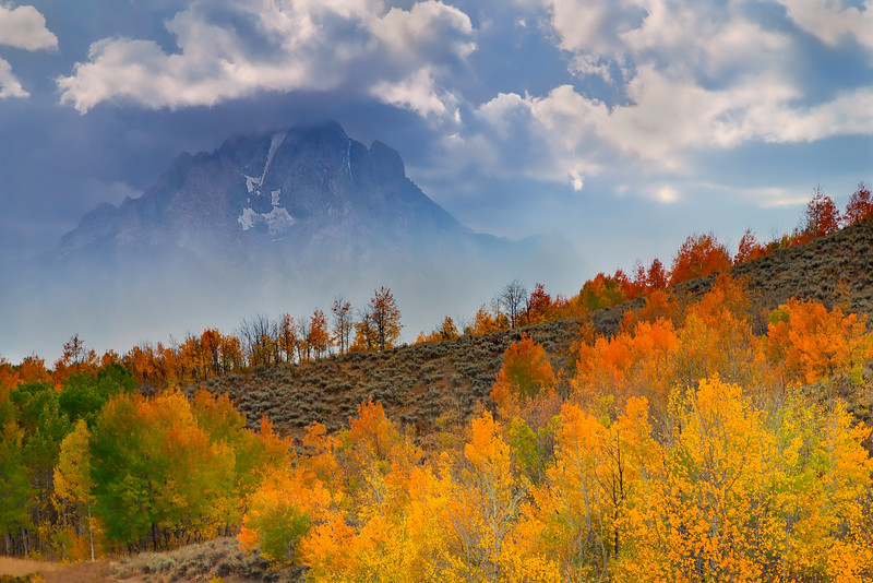Tetons Fall Color at Oxbow Bend
