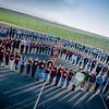 Human Peace Sign - 2015_02_10 Delano, CA - Cesar E. Chavez High School