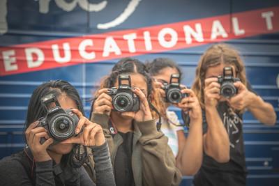 2016_10_13, Canon Experience, Hendrik Kühling, Martin Van Buren High School, New York, NY, Peace sign, Queens