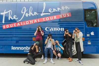 2016_09_20_Astoria_NY_Kaufman_Astoria_Studios, bus, Canon, exterior, exterior bus, students, cameras