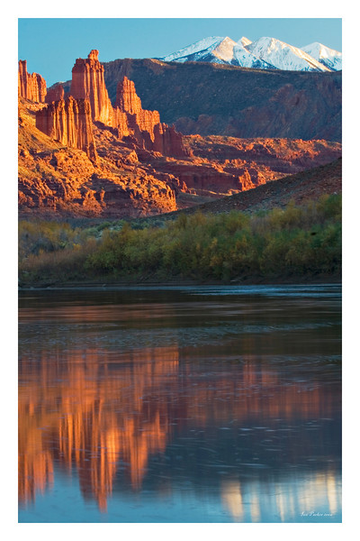 Fisher Towers reflected in Colorado River_18x30