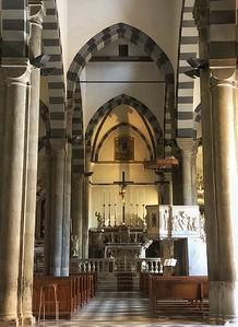 Catholic church in Riomaggiore, Italy
