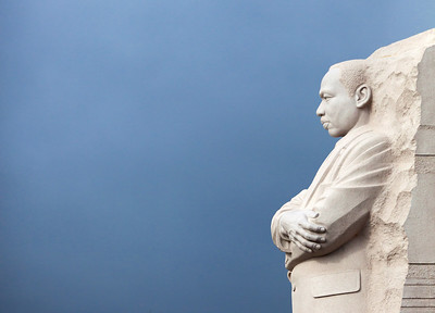 Martin Luther King, Jr. memorial in profile