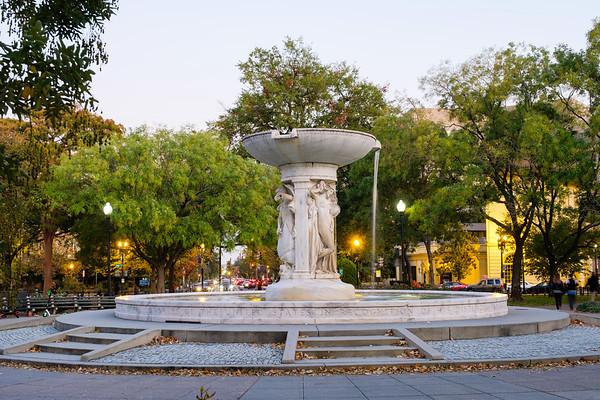 Dupont Circle on a fall evening