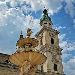 Fountain in Salzburg Square